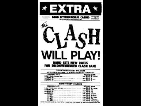 The Clash audio the 1st night at Bonds live 1981