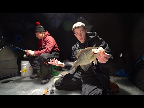 Nighttime ice fishing disaster youtube for Ice fishing youtube