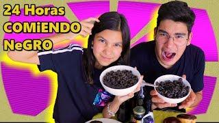 24 HORAS COMIENDO NEGRO | Reto con mi hermano Sebastian | TV Ana Emilia