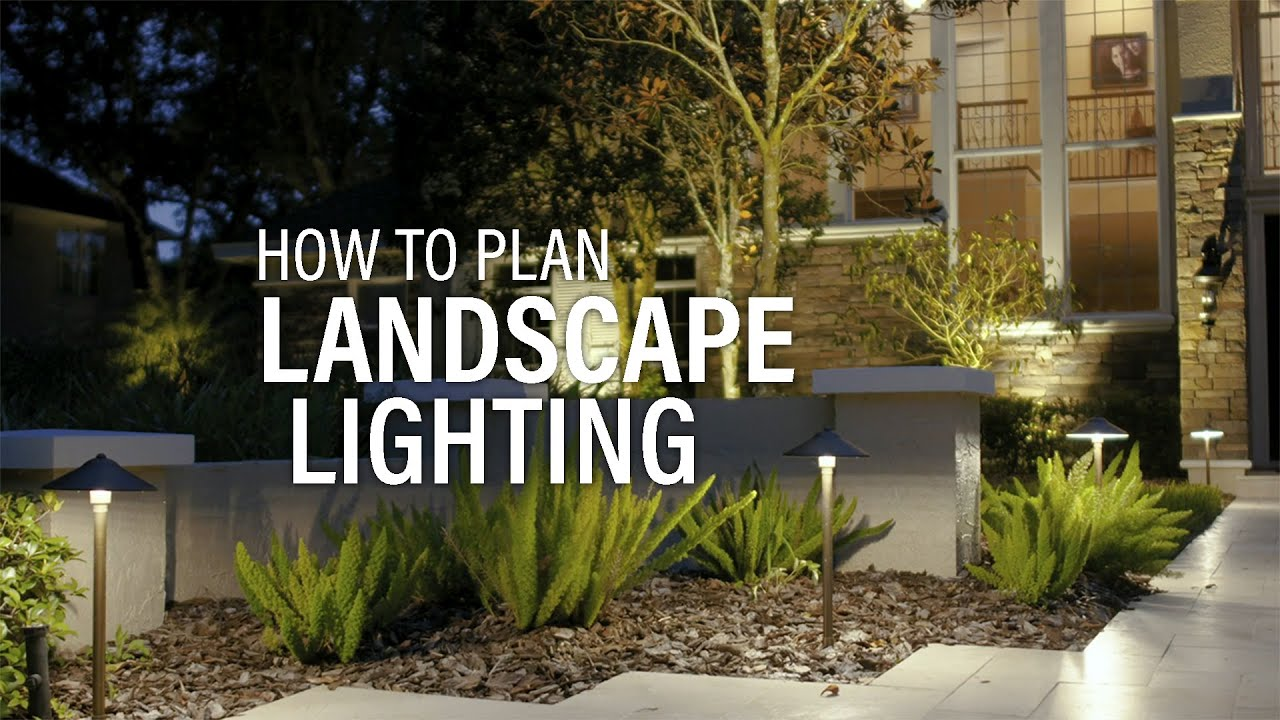 how to install landscape lighting start with a plan