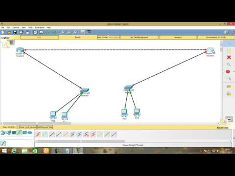 HOW TO CONTACT TWO ROUTERS - CISCO PACKET TRACER#4