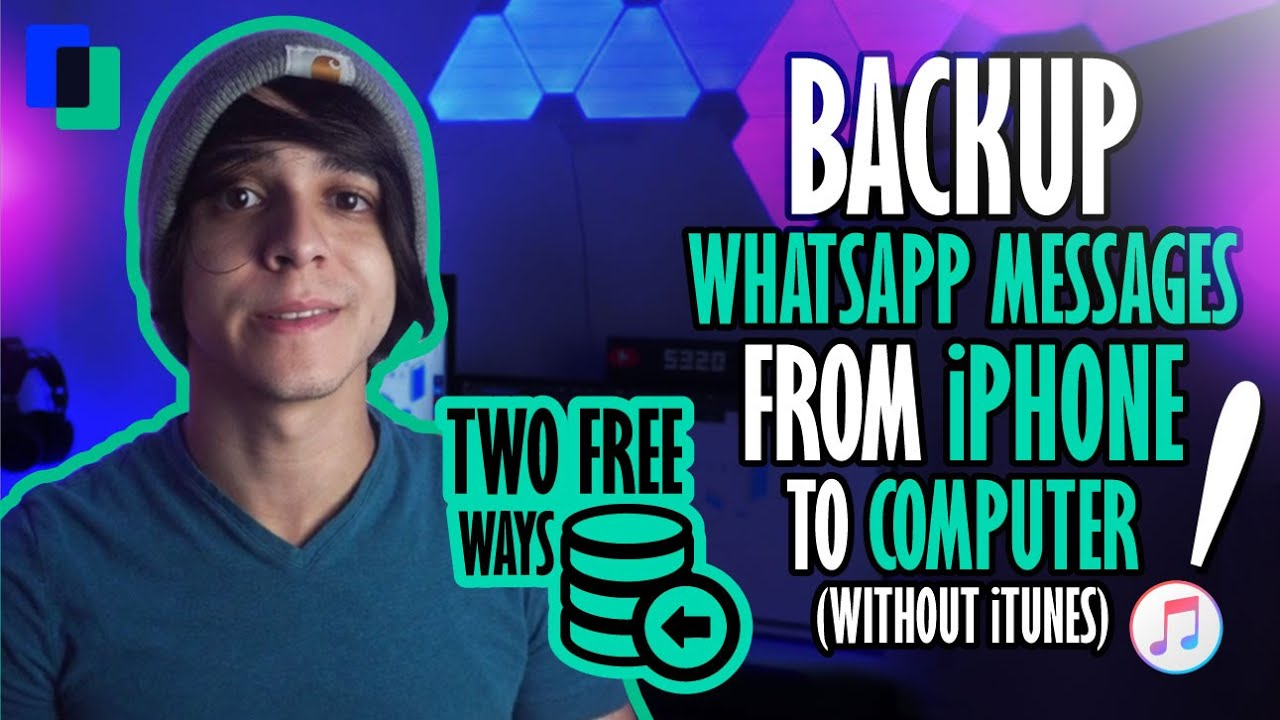 Two FREE Ways to Backup WhatsApp Messages from iPhone to Computer