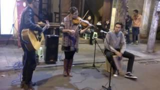 Nồng Nàn Hà Nội - Guitar, Violin, Cajon Cover cực hay Phố Cổ Hà Nội ♥