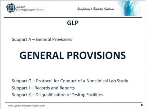 21CFR Part 58   The Good Laboratory Practices GLP Regulation