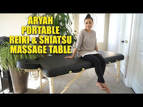 MULTI PURPOSE PORTABLE REIKI SHIATSU MASSAGE TABLE REVIEW | ARYAH MASSAGE TABLE