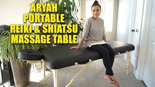 MULTI PURPOSE PORTABLE REIKI SHIATSU MASSAGE TABLE REVIEW | ARYAH MASSAGE TABLE