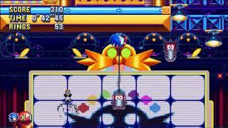 "Sonic Mania (PC) - Studiopolis 2 Sonic: 1'08""91 (Speed Run)"