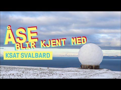Åse blir kjent med KSAT Svalbard