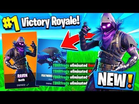 Using The *NEW* Raven Skin To WIN In Fortnite!