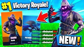 Using the *NEW* Raven skin to WIN in Fortnite!