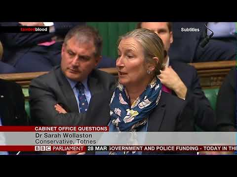 Cabinet Office Question : 28th March 2018 - Dr Sarah Wollaston MP