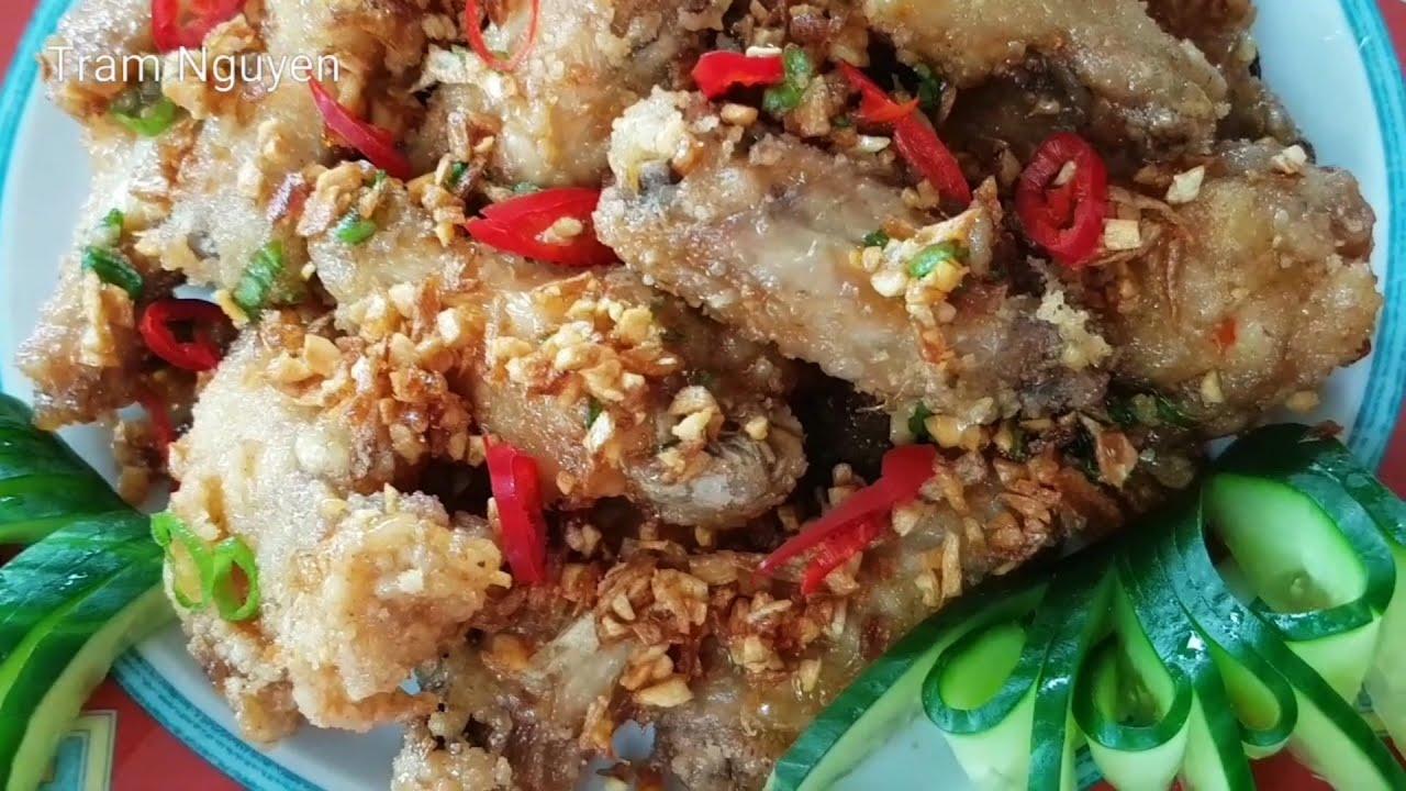 Cánh Gà Chiên Giòn Nước Mắm Tỏi Ớt ngon nhất – cách làm dễ ẹt – Fried Chicken Wing with fish sauce