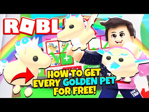 How to Get Every GOLDEN PET for FREE in Adopt Me! NEW Adopt Me Golden Pets Update (Roblox)