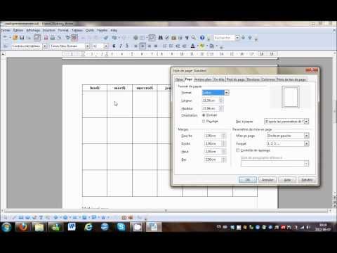 Openoffice Modifier L Orientation D Une Page Youtube