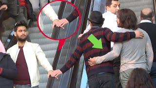 🔥Touching Hands on the Escalator! Man Edition!  |  Best of Just For Laughs