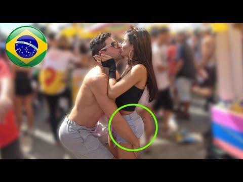 KISSING PRANK BRAZIL PART 1!