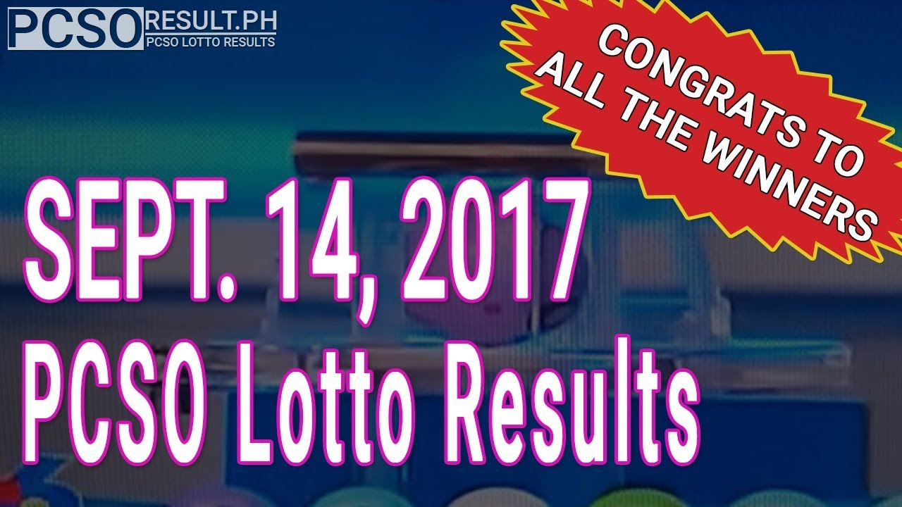 PCSO Lotto Results Today September 14, 2017 (6/49, 6/42, 6D, Swertres & EZ2)