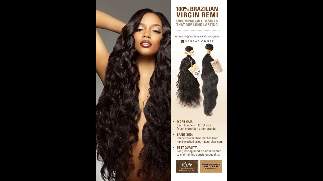 Sensationnel 100 Unprocessed Brazilian Human Hair First