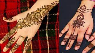 Easy mehndi design for front hands // Simple heena design _ Latest beautiful mehndi design 2020
