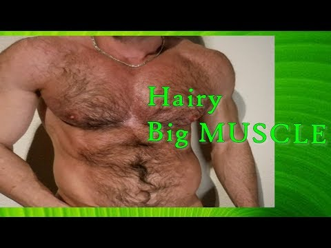 Big Hairy Muscle posing   Muscle Master flexing MUSCLES  TheStreetFlexer