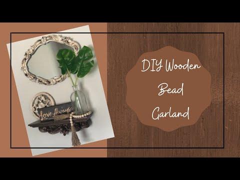 Make a wooden bead garland