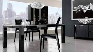 SomaliBeutifulHome| Black and white dining room:30 inspirational examples|Best Design: