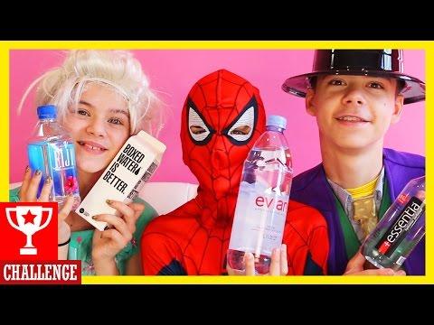 SPIDERMAN vs FROZEN ELSA vs JOKER! ULTIMATE WATER CHALLENGE! Superhero in Real Life!  |  KITTIESMAMA