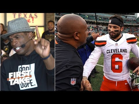 Baker Mayfield doesn't 'understand the business' of the NFL - Deion Sanders | First Take