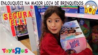 ENLOUQUECI NA MAIOR LOJA DE BRINQUEDOS TOYS R US!! BABY ALIVE, FROZEN, BARBIE E BOLINHA DE SABÃO