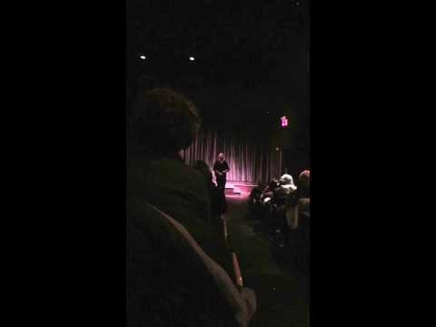 james burns performing ...  at the screening of ,,jamesey boy'' in new york