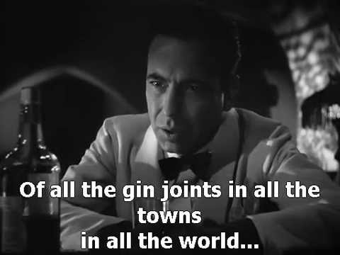 Casablanca 1942 Humphrey Bogart as time goes by