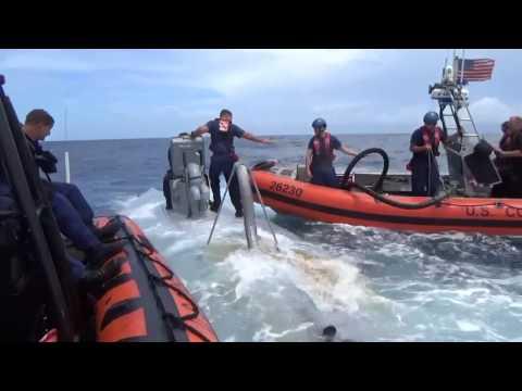 US Coast Guard  Cutter Waesche Captures a Semi-Submersible