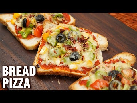 Bread Pizza Recipe - Easy And Quick Recipe - How To Make Bread Pizza In Oven At Home - Tarika