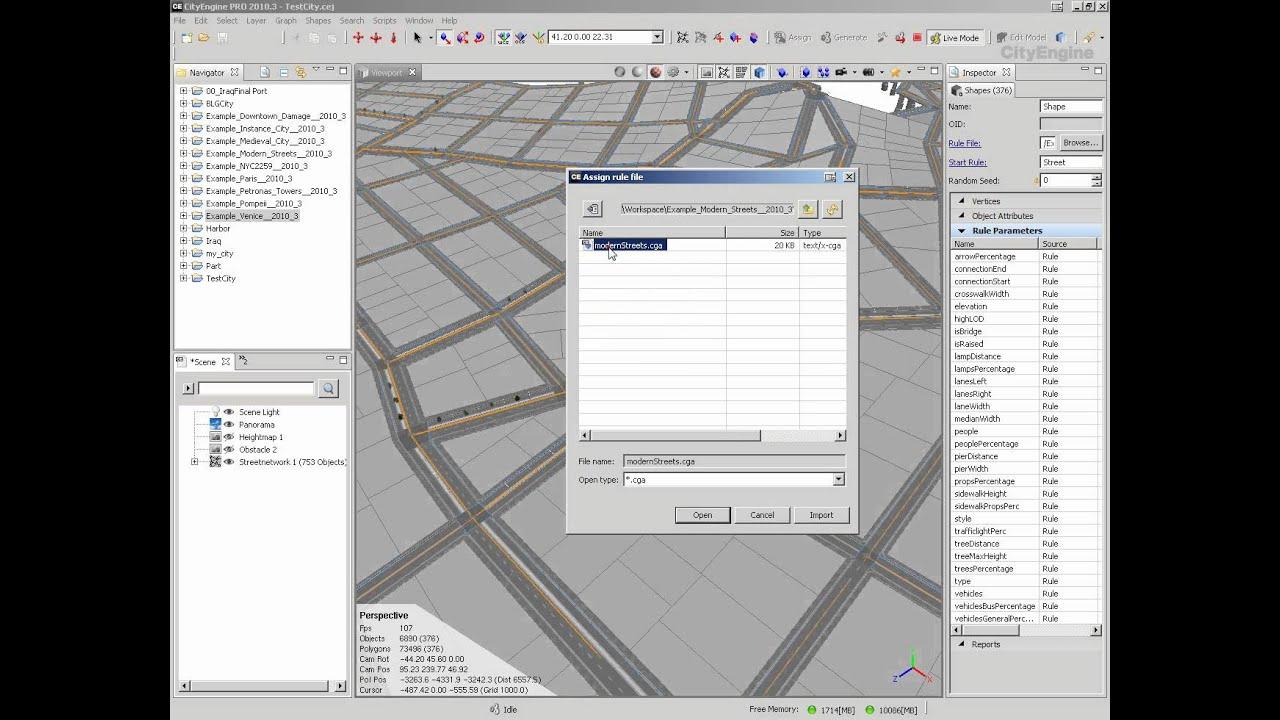 3dsmax Tutorial : Mega City (City Engine) and Mentalray (Tagalog Version)