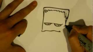 How to Draw Frankenstein's Monster - Halloween Drawings