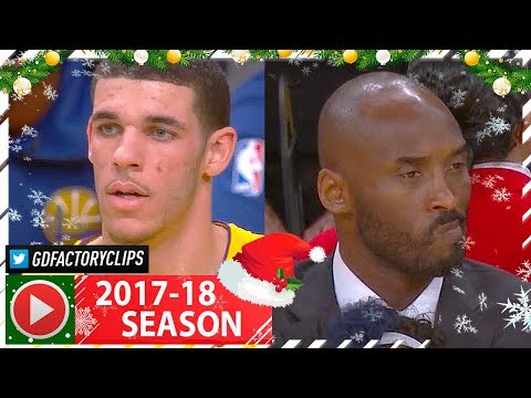 Lonzo Ball Full Highlights vs Warriors (2017.12.18) - 16 Pts, 6 Ast, KOBE WATCHING!