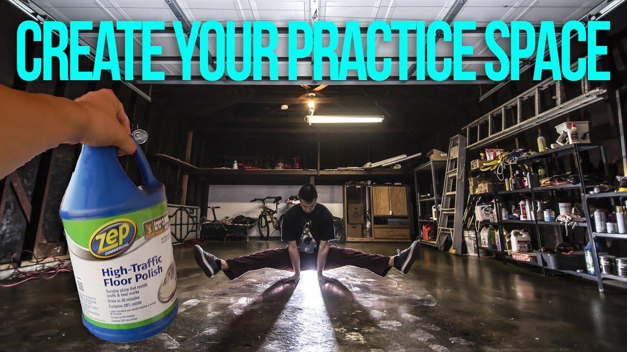 turn your garage into a dance floor diy breaking
