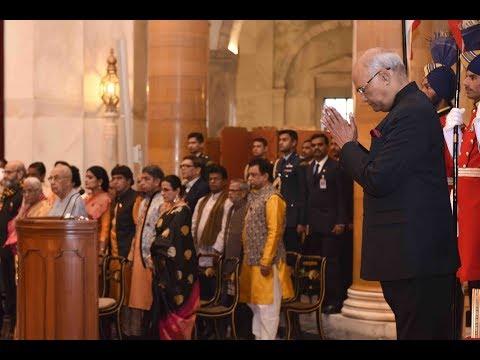 President Kovind presents Sangeet Natak Akademi's Fellowships and Awards 2016