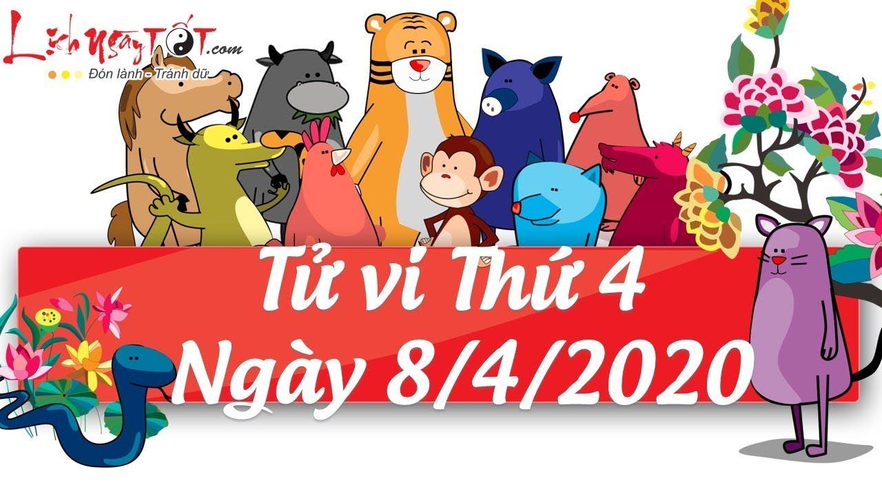 Xem tử vi hàng ngày – Tử vi Thứ 4 ngày 8 tháng 4 năm 2020 của 12 con giáp