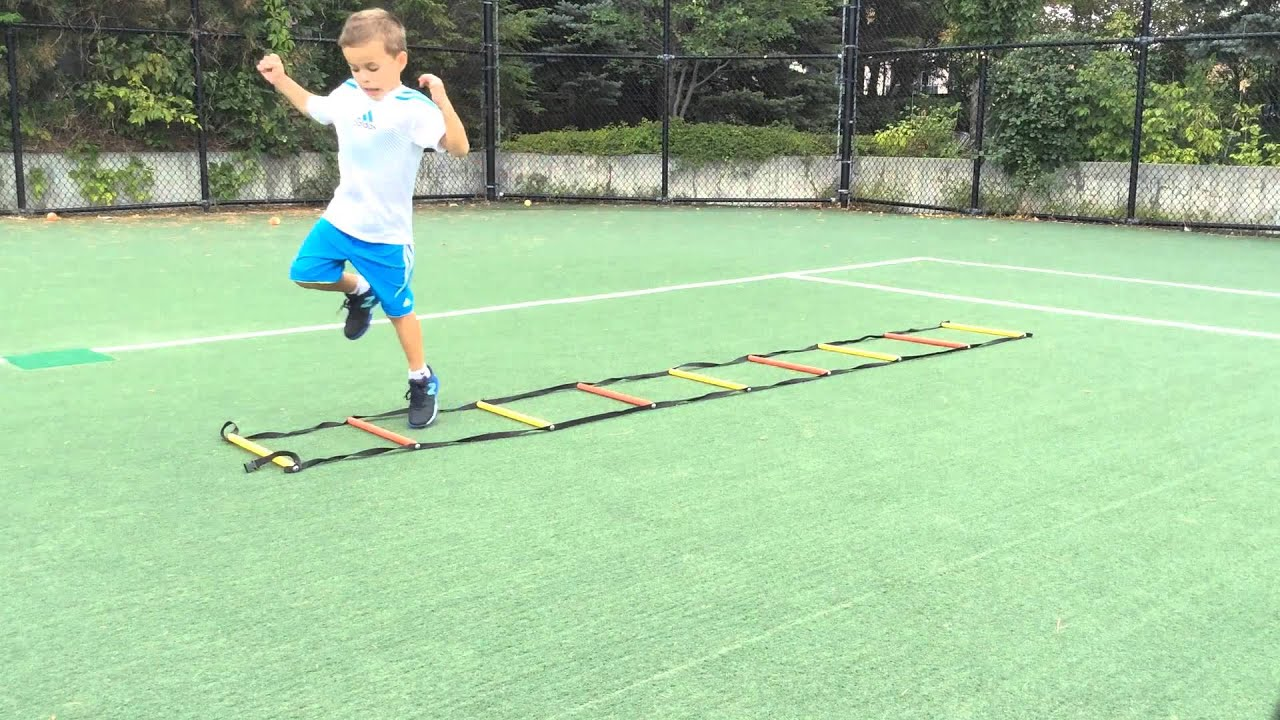 Agility Ladder Drills For Kids Ages 5 Youtube
