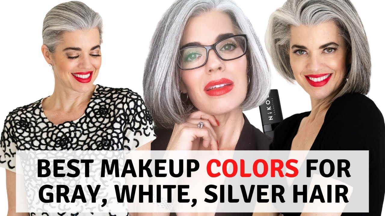 The Best Makeup Colors For Gray White