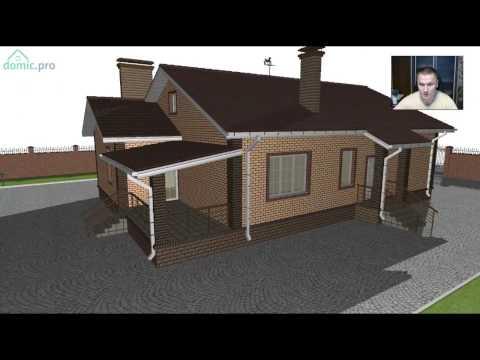 Уютный  одноэтажный жилой дом с  баней «Комфорт»  B-241-ТП
