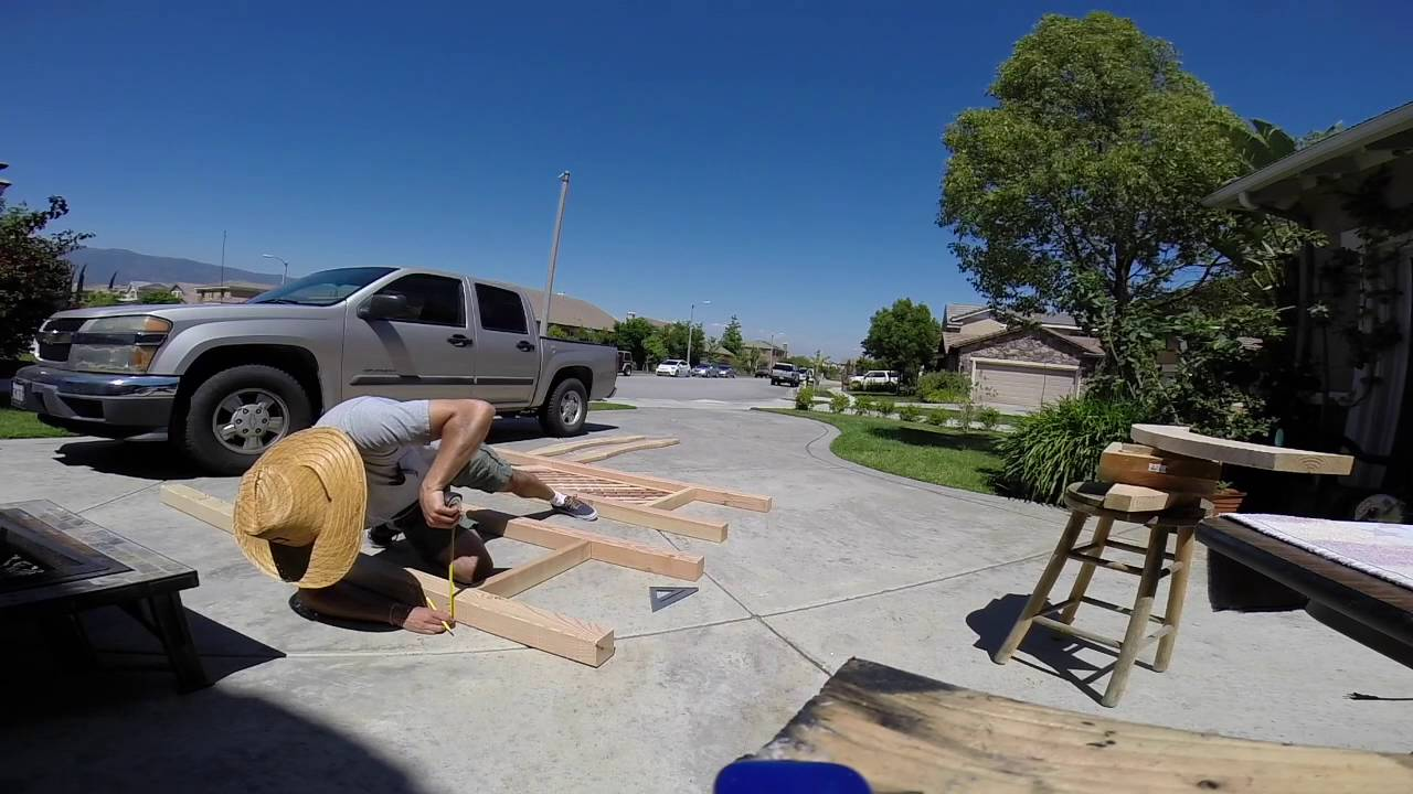 Building Our Wedding Arch - YouTube