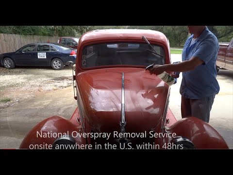 "Paint overspray removal1936 Slant Back 2 door Ford ""National Overspray Removal Service"""