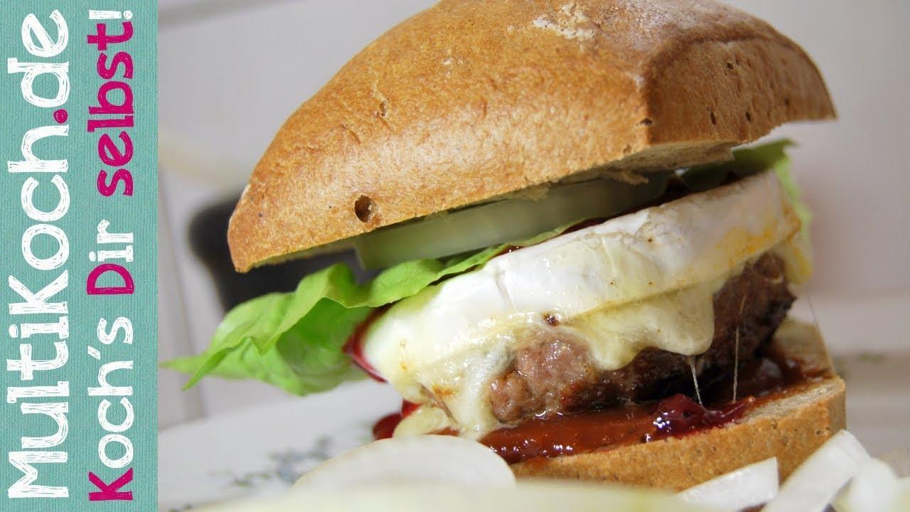 camembert burger mit preiselbeeren youtube. Black Bedroom Furniture Sets. Home Design Ideas