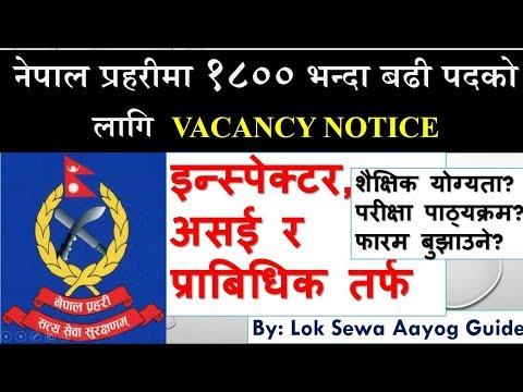 Nepal Police Vacancy 2076 (2020) Inspector, ASI, Technical बिज्ञापन नेपाल प्रहरी २०७६ Prabidhik