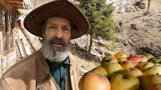 Naturally preserved apples and life in the wildness (ENG sub)