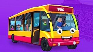 Bánh xe trên xe buýt   Vườn ươm vần Đối với trẻ em   Nursery Rhyme   Wheels On The Bus