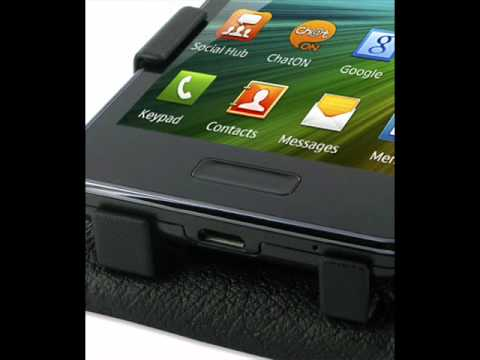 PDair Leather Case for Samsung Wave M GT-S7250 - Flip Top Type (Black)