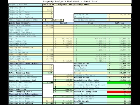 download real estate investment spreadsheet template free trial version